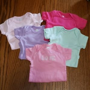 Set of 5 onesies